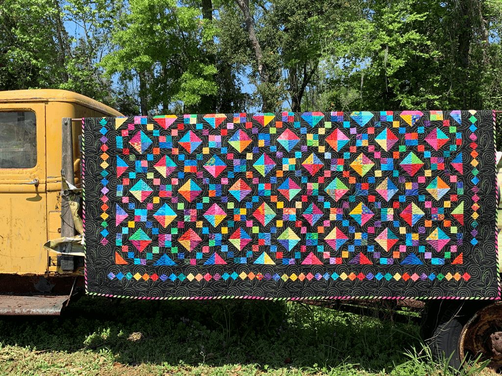 2020 Show Raffle Quilt Created & Quilted by Dell Dunman Photo by Janet Sebastian